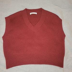Zara Sweater Size LG , Burgundy